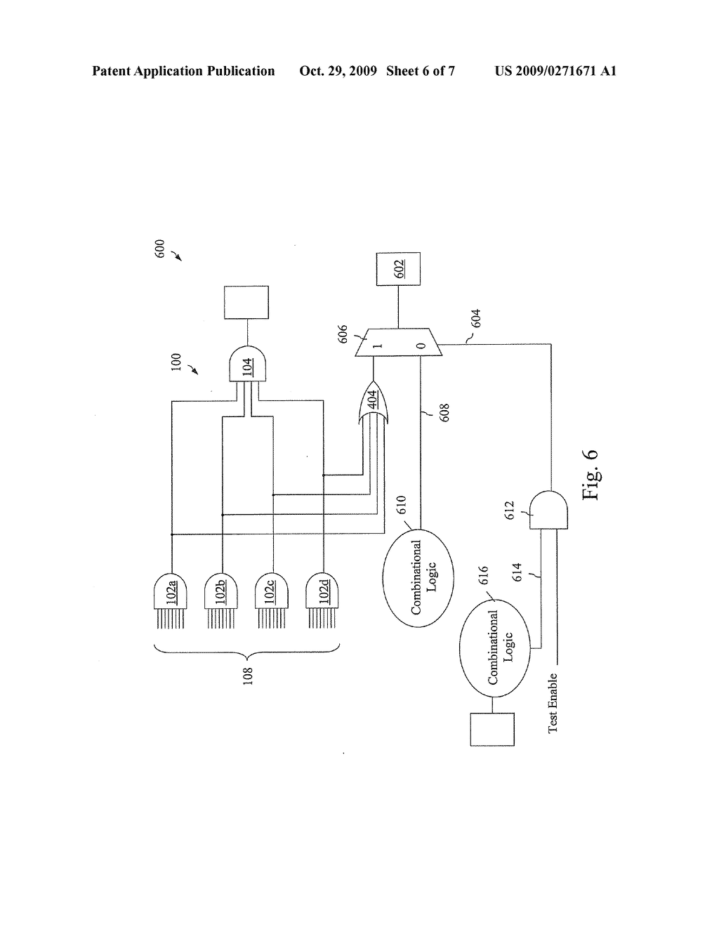 APPARATUS AND METHOD FOR IMPROVED TEST CONTROLLABILITY AND OBSERVABILITY OF RANDOM RESISTANT LOGIC - diagram, schematic, and image 07