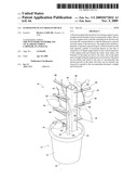 Flower pot plant hold up device diagram and image