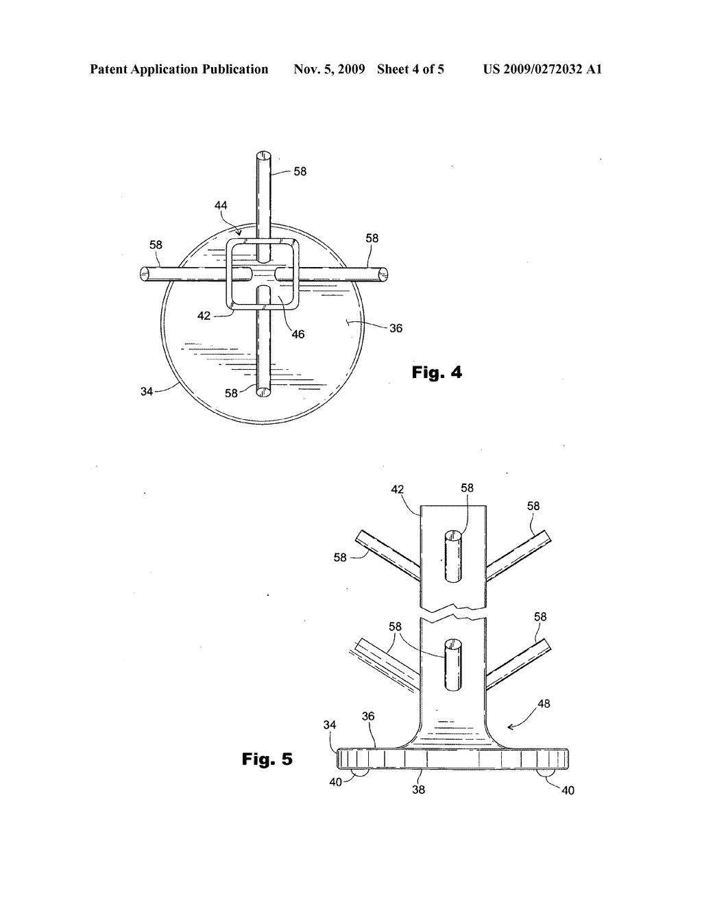 Flower pot plant hold up device - diagram, schematic, and image 05