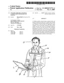 Foldable portable universal laptop computer holder and harness diagram and image