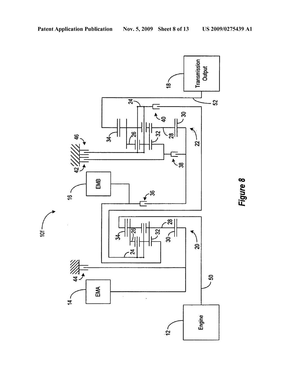 semi power split hybrid transmission with multiple modes and fixed rh patentsencyclopedia com Transmission Science Diagram Manual Transmission Diagram