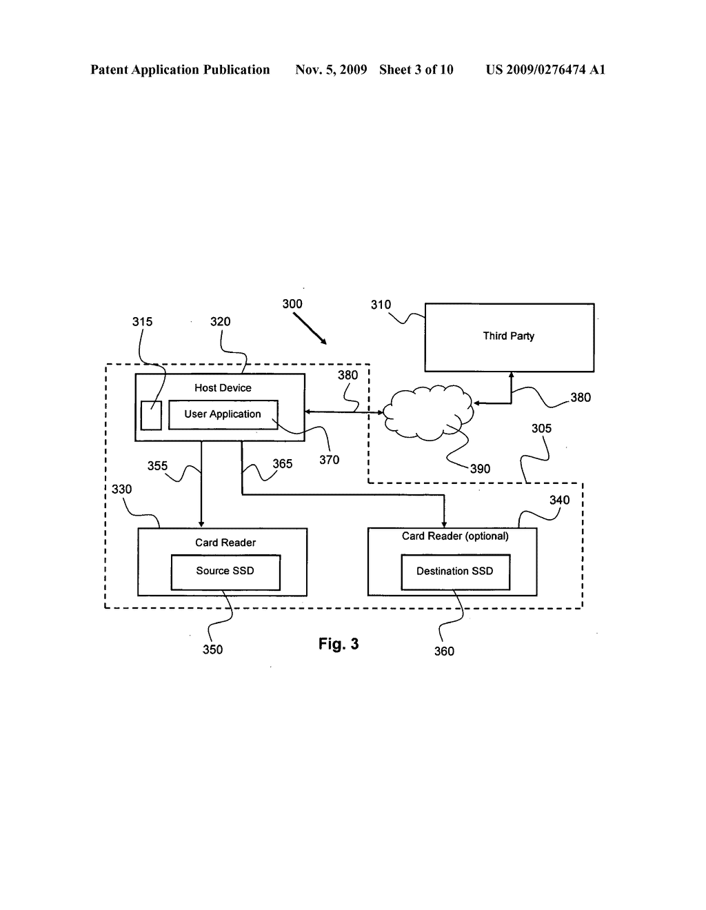 METHOD FOR COPYING PROTECTED DATA FROM ONE SECURED STORAGE DEVICE TO ANOTHER VIA A THIRD PARTY - diagram, schematic, and image 04