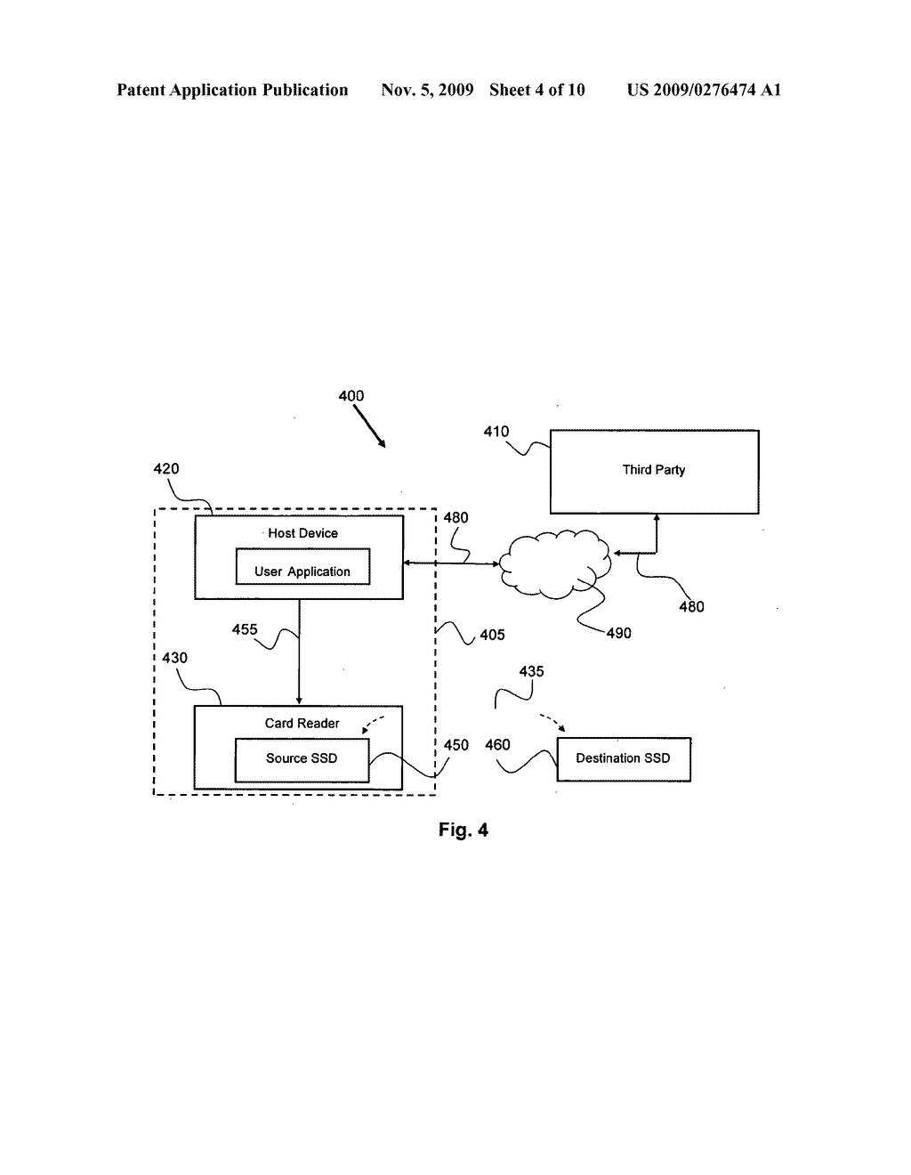 METHOD FOR COPYING PROTECTED DATA FROM ONE SECURED STORAGE DEVICE TO ANOTHER VIA A THIRD PARTY - diagram, schematic, and image 05