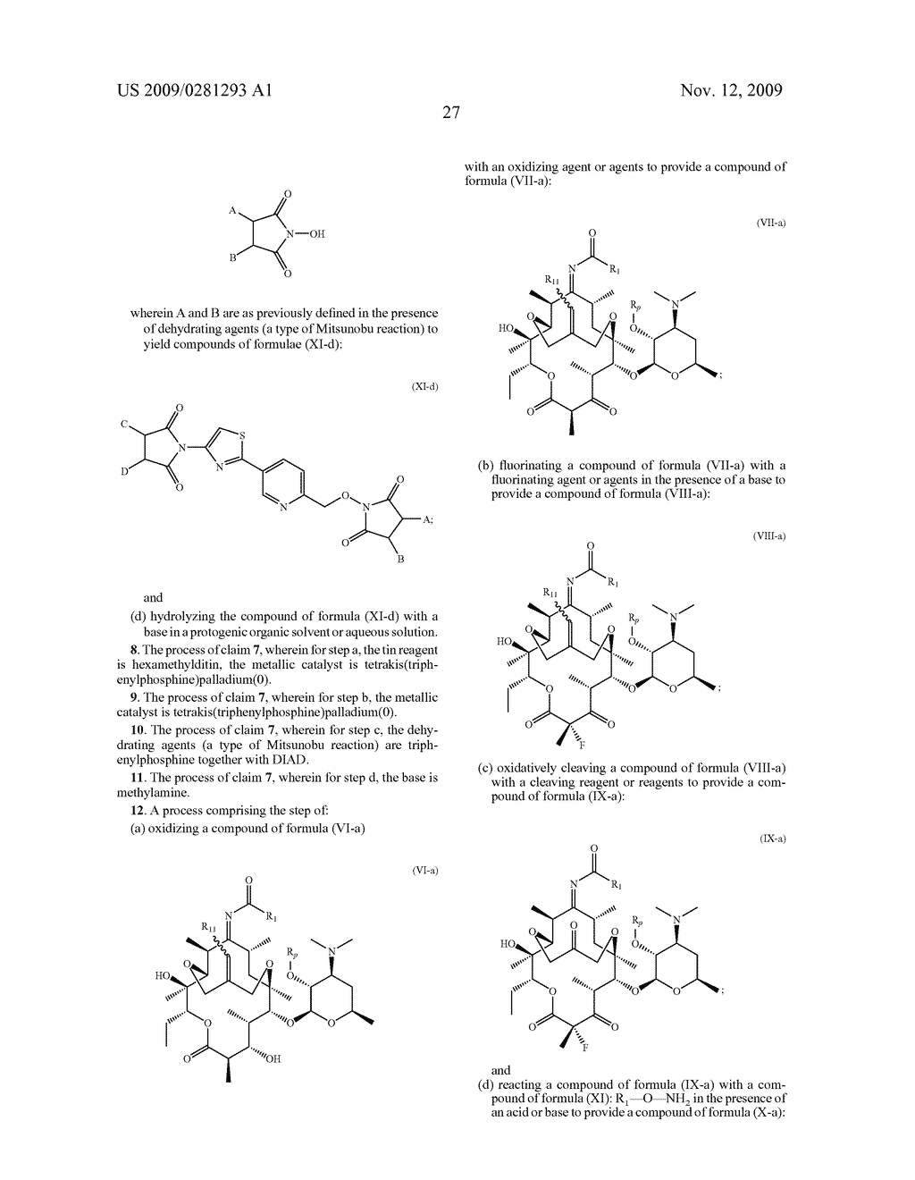 PROCESSES FOR THE PREPARATION OF 2 FLUORO 6-11 BICYCLIC ERYTHROMYCIN DERIVATIVES - diagram, schematic, and image 28