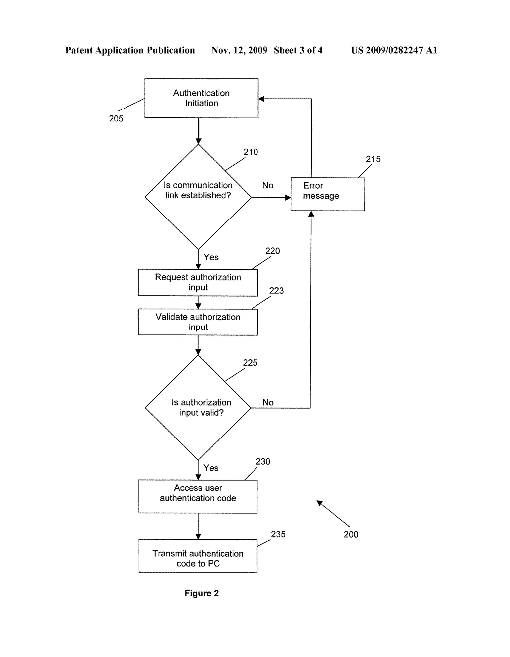 METHOD, SYSTEM AND DEVICE FOR AUTHENTICATING A USER - diagram, schematic, and image 04