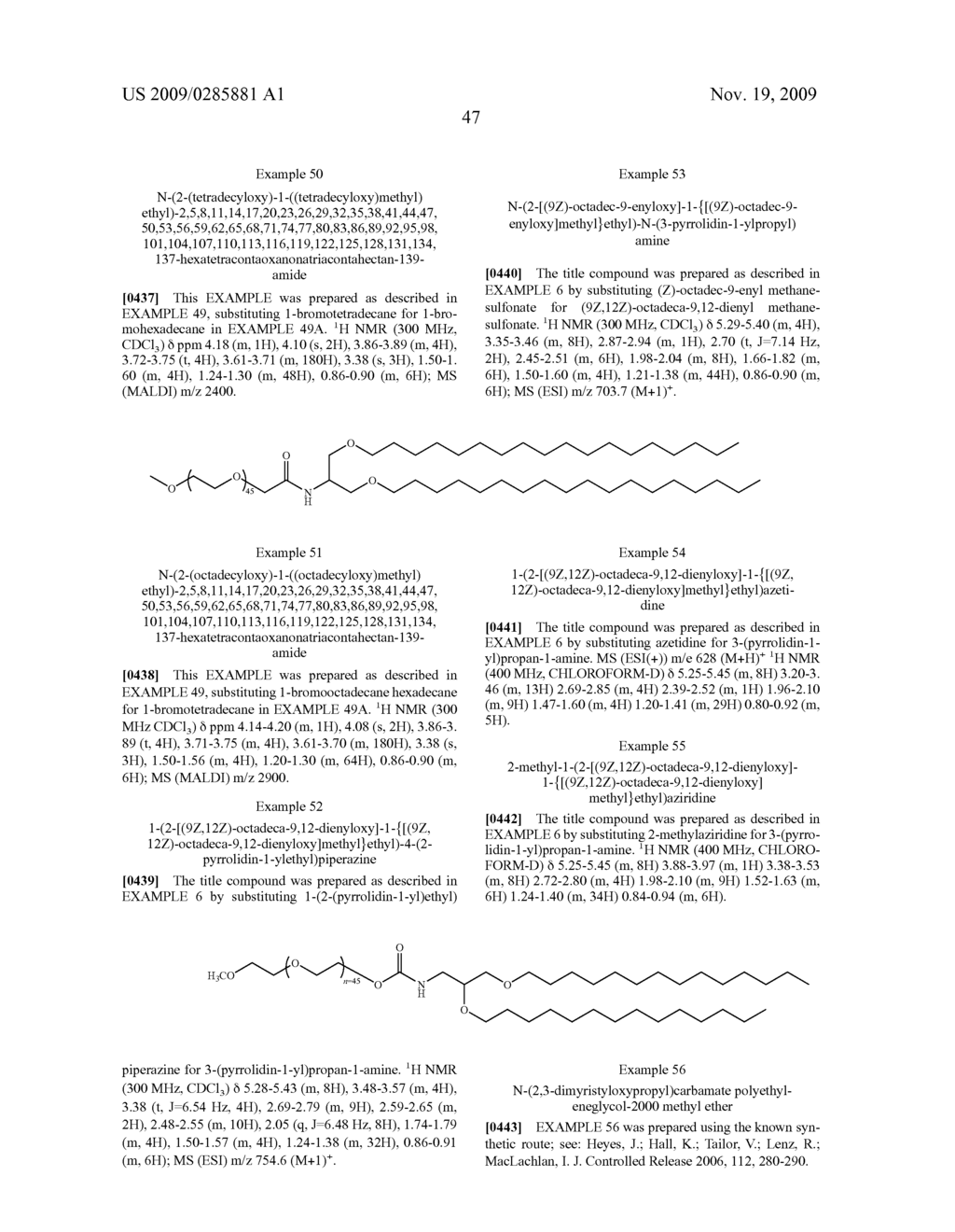 CATIONIC LIPIDS AND USES THEREOF - diagram, schematic, and image 55