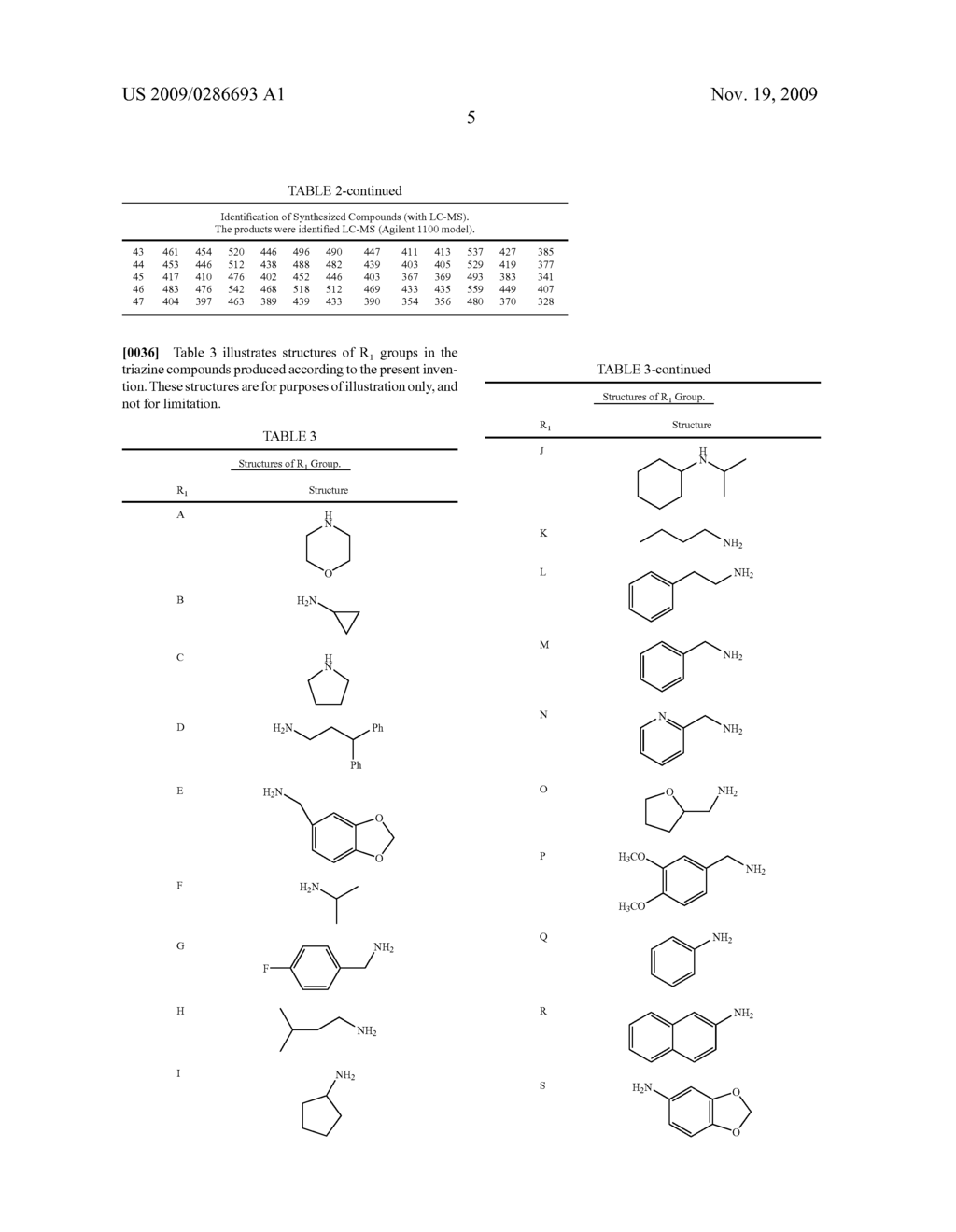 MICROARRAYS OF TAGGED COMBINATORIAL TRIAZINE LIBRARIES - diagram, schematic, and image 12