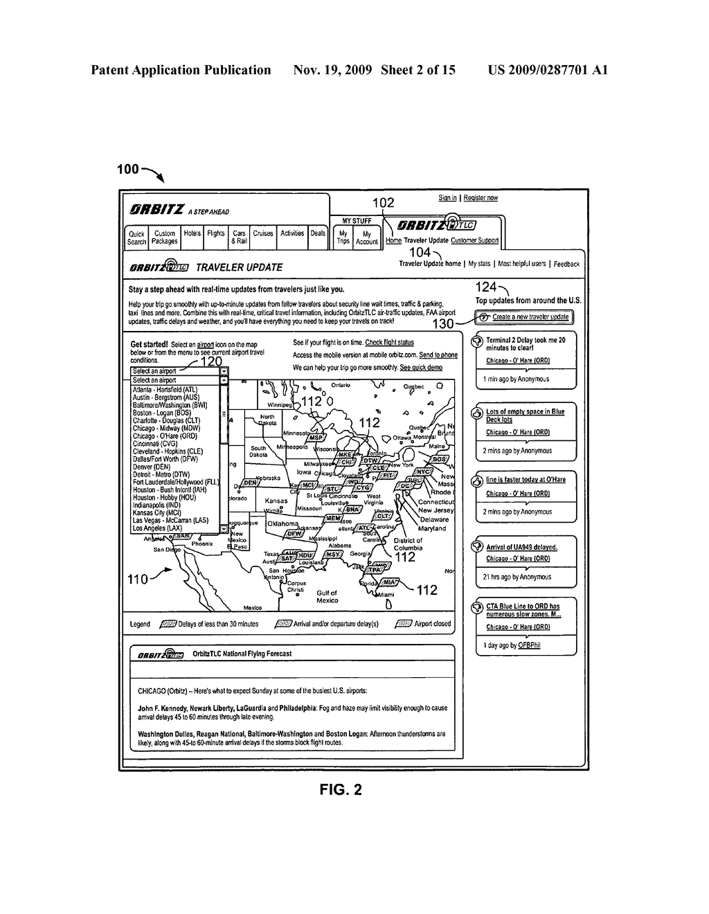 System and Method for Receiving and Displaying User Inputted Travel-Related Messages - diagram, schematic, and image 03