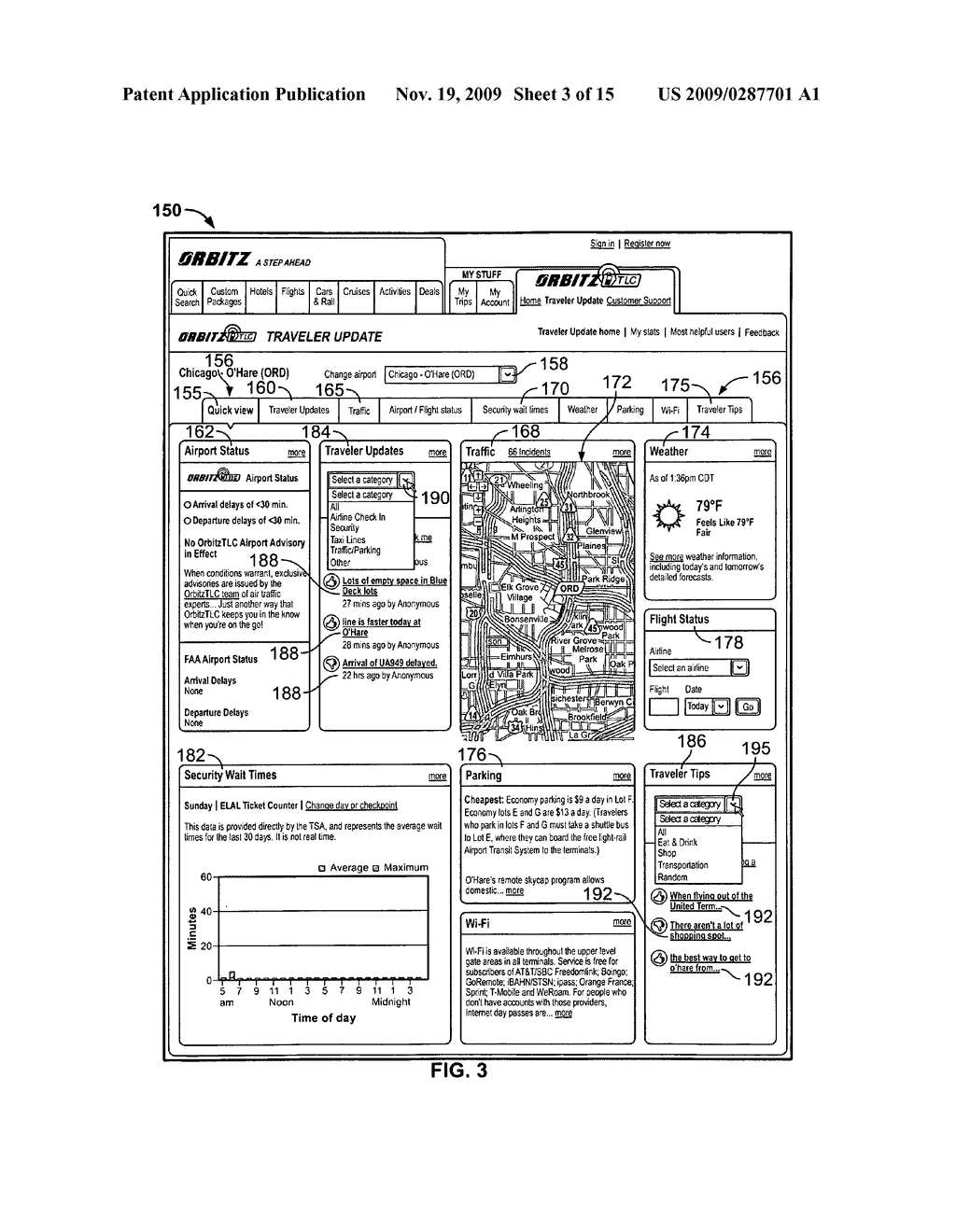 System and Method for Receiving and Displaying User Inputted Travel-Related Messages - diagram, schematic, and image 04