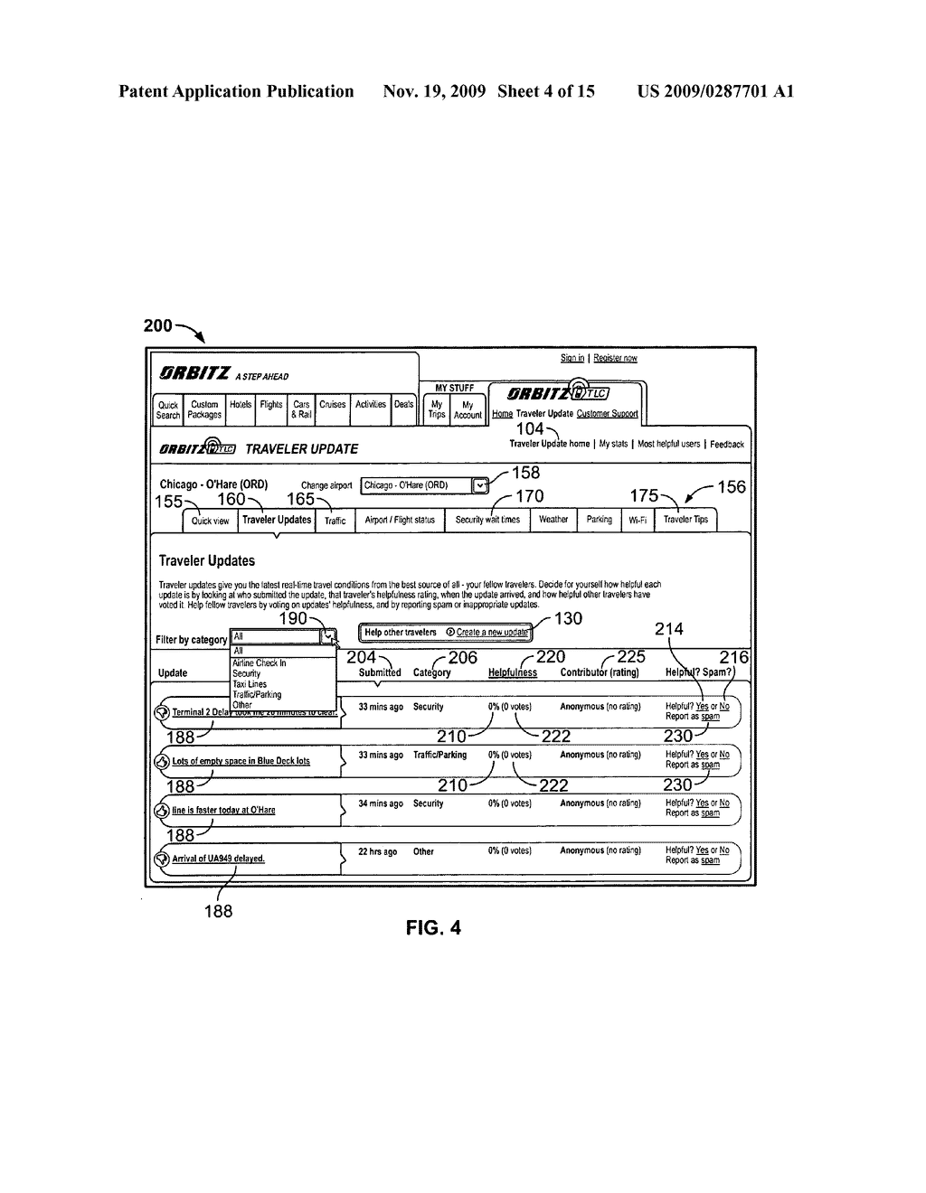 System and Method for Receiving and Displaying User Inputted Travel-Related Messages - diagram, schematic, and image 05