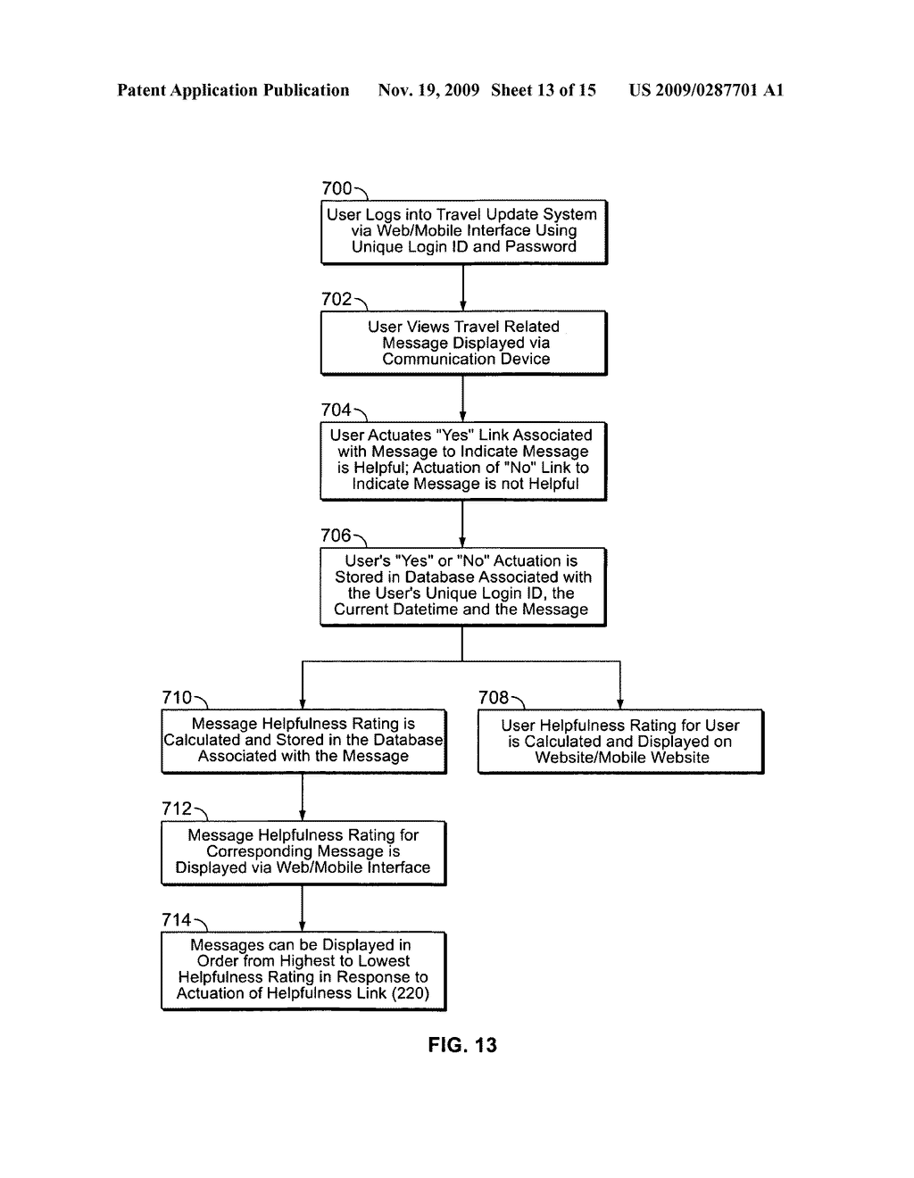 System and Method for Receiving and Displaying User Inputted Travel-Related Messages - diagram, schematic, and image 14