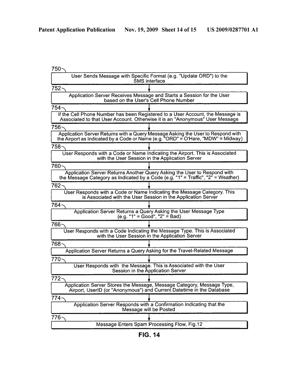 System and Method for Receiving and Displaying User Inputted Travel-Related Messages - diagram, schematic, and image 15