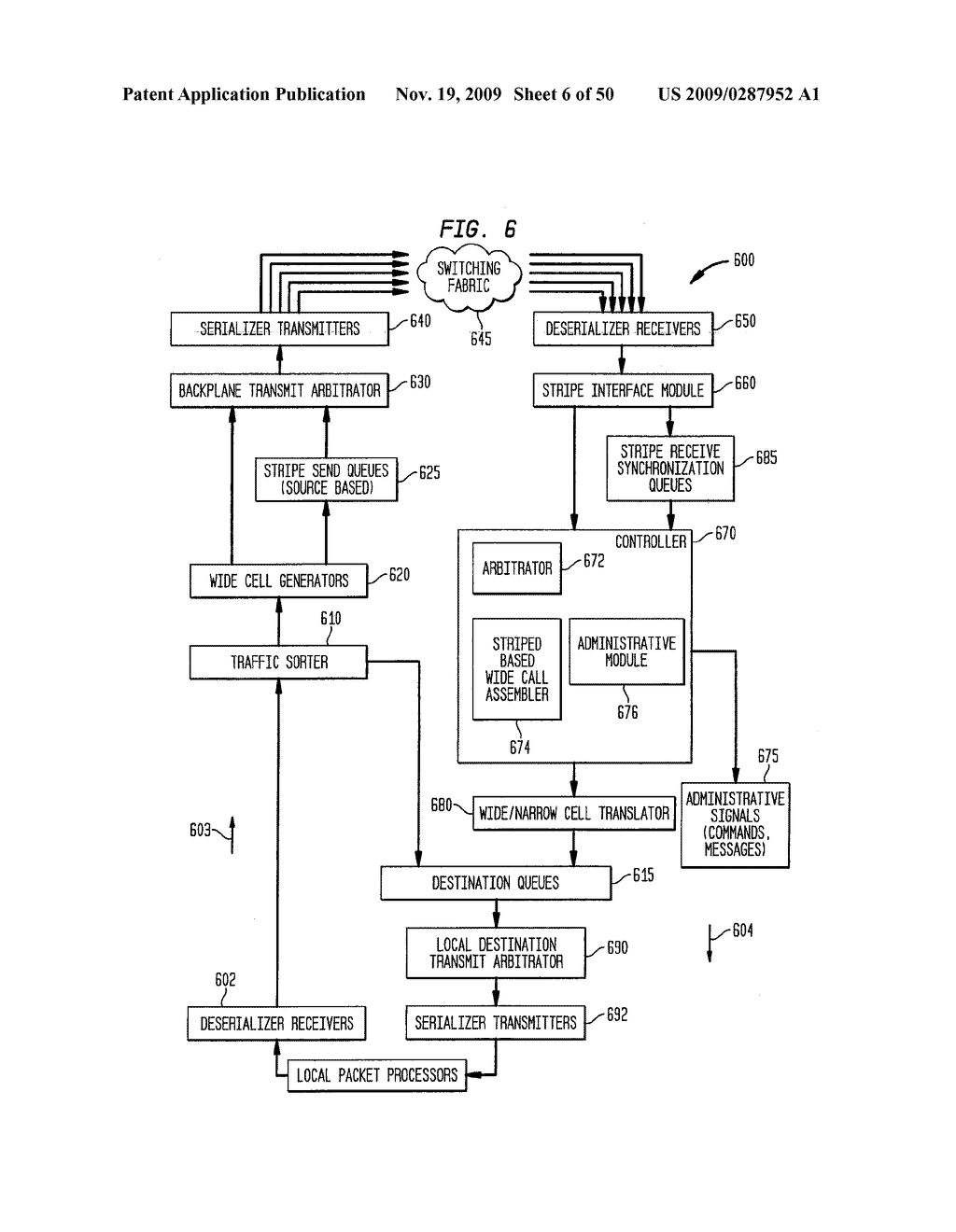 Backplane Interface Adapter with Error Control and Redundant Fabric - diagram, schematic, and image 07