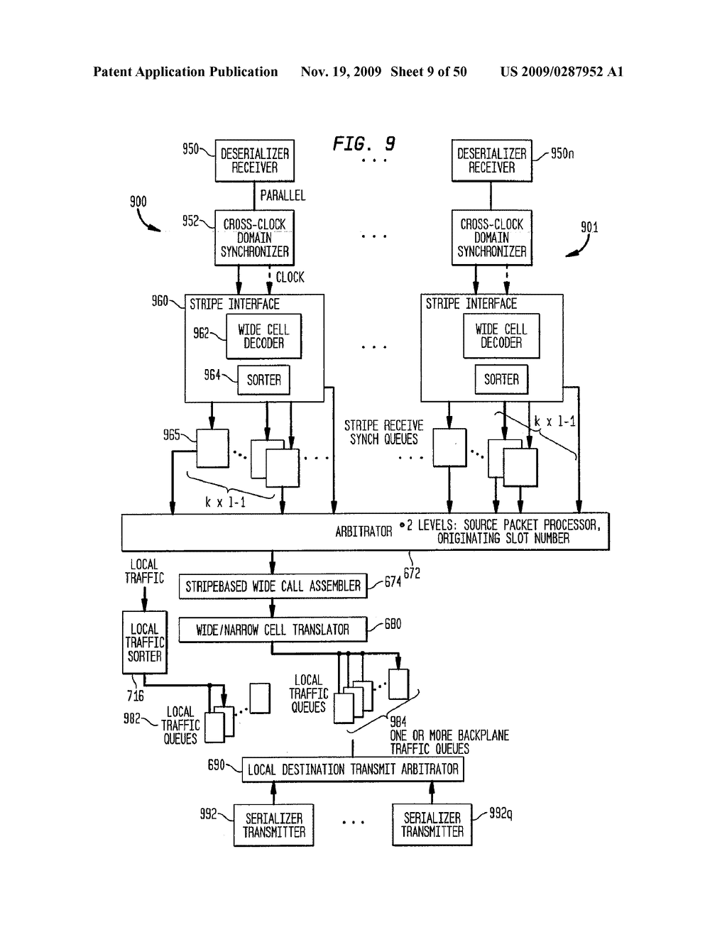 Backplane Interface Adapter with Error Control and Redundant Fabric - diagram, schematic, and image 10