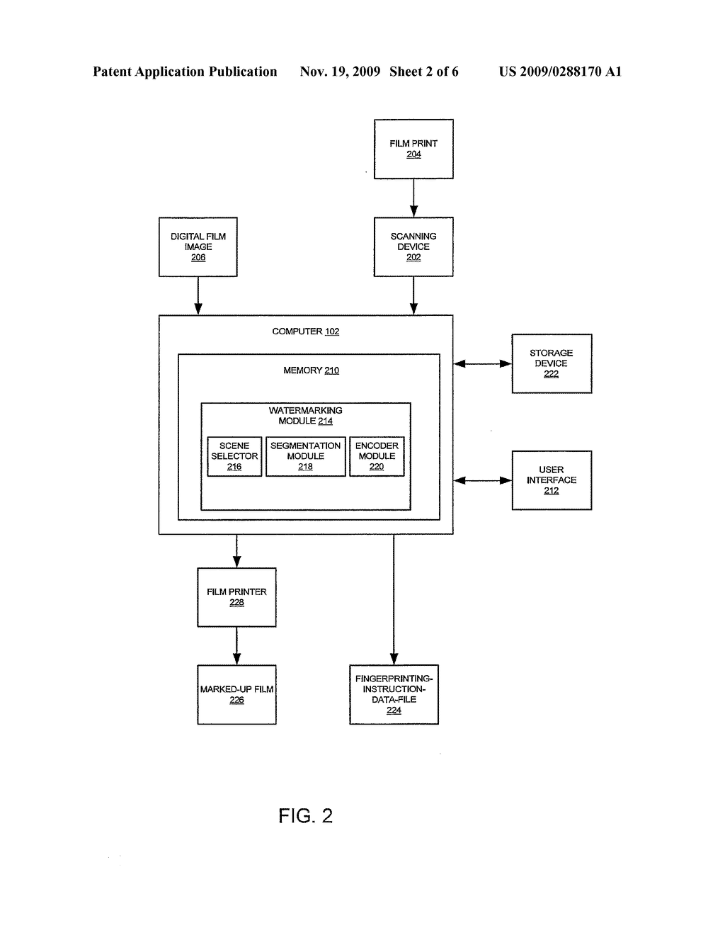 SYSTEM AND METHOD FOR OBJECT ORIENTED FINGERPRINTING OF DIGITAL VIDEOS - diagram, schematic, and image 03