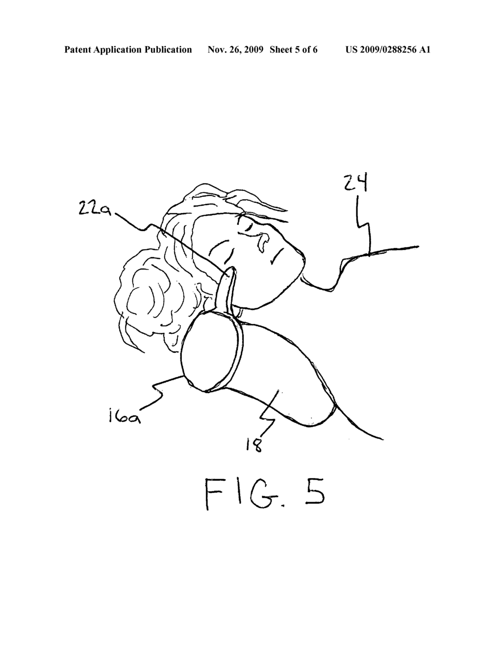 Headrest for protecting a hairstyle - diagram, schematic, and image 06