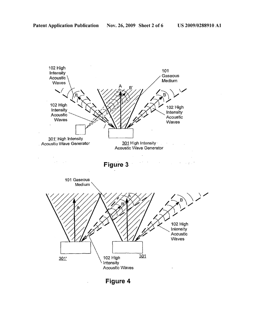 METHOD AND SYSTEM FOR ENHANCED HIGH INTENSITY ACOUSTIC WAVES APPLICATION - diagram, schematic, and image 03