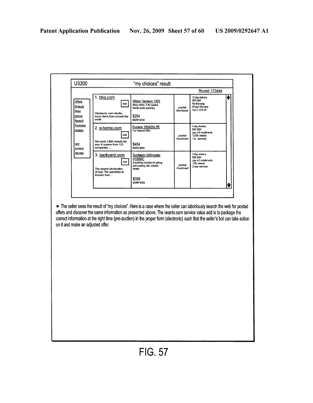 METHOD, SYSTEM AND BUSINESS MODEL FOR A BUYER'S AUCTION WITH NEAR PERFECT INFORMATION USING THE INTERNET - diagram, schematic, and image 58