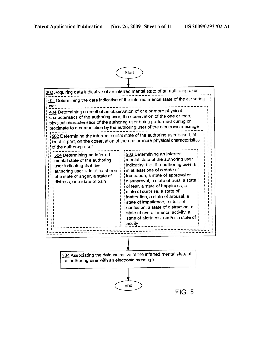 Acquisition and association of data indicative of an inferred mental state of an authoring user - diagram, schematic, and image 06