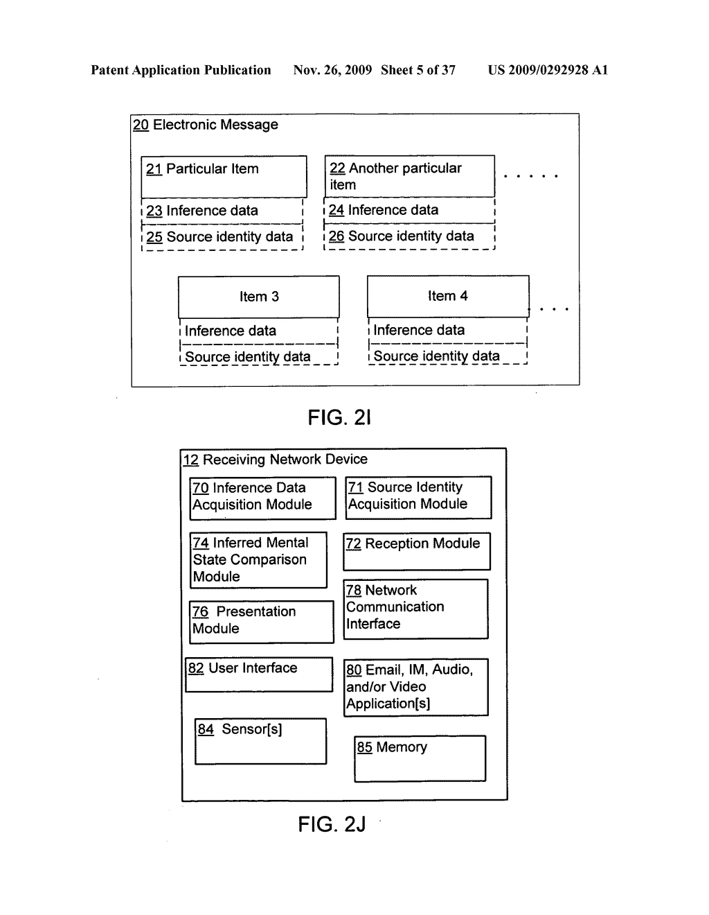Acquisition and particular association of inference data indicative of an inferred mental state of an authoring user and source identity data - diagram, schematic, and image 06