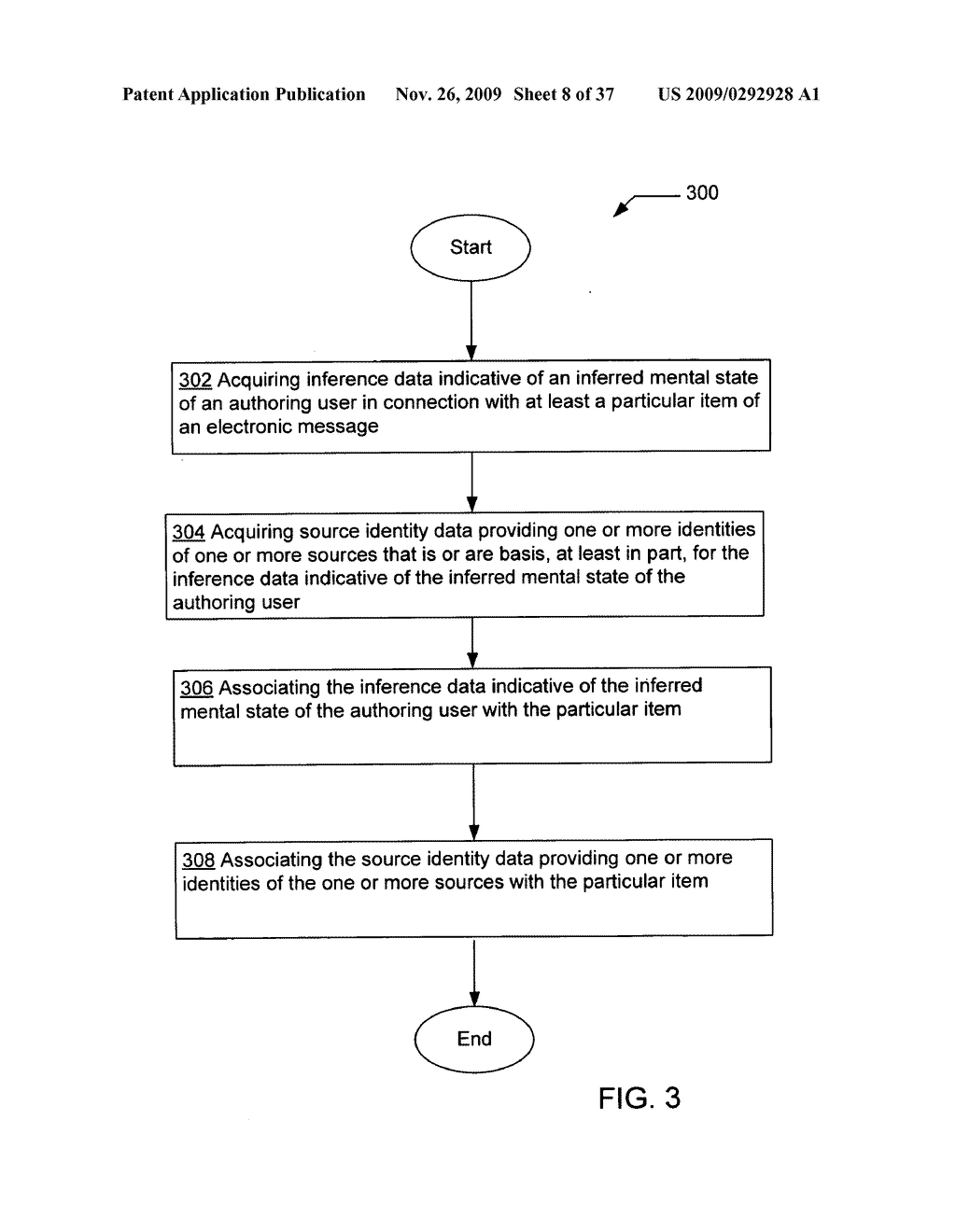 Acquisition and particular association of inference data indicative of an inferred mental state of an authoring user and source identity data - diagram, schematic, and image 09