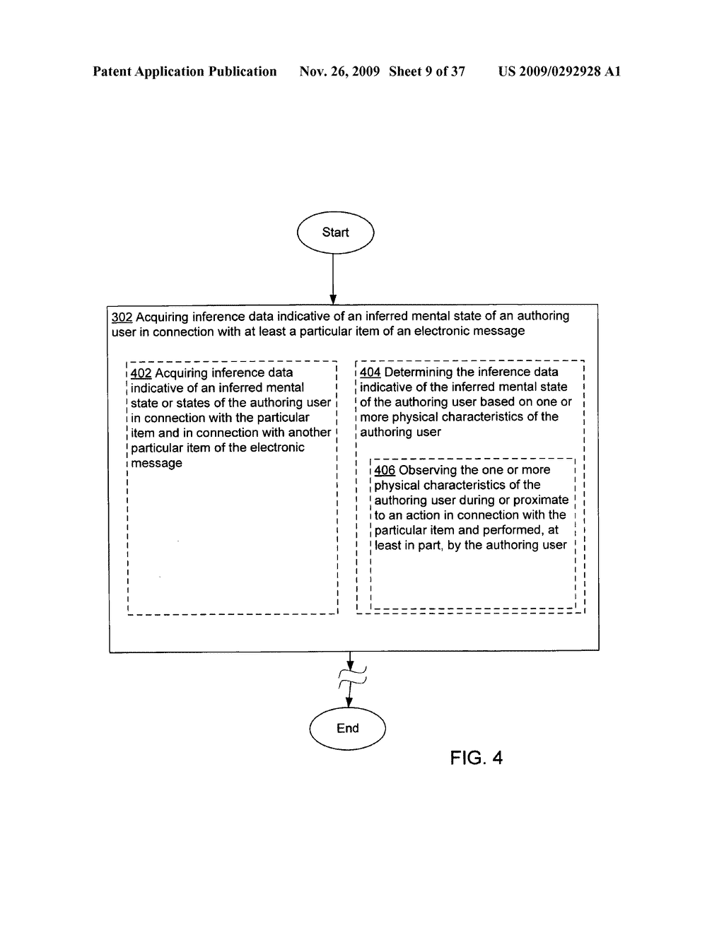 Acquisition and particular association of inference data indicative of an inferred mental state of an authoring user and source identity data - diagram, schematic, and image 10