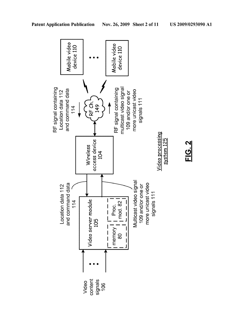 MOBILE VIDEO DEVICE HAVING UNICAST AND MULTICAST MODES AND METHODS FOR USE THEREWITH - diagram, schematic, and image 03
