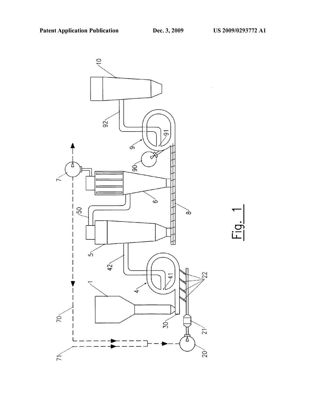 METHOD FOR STABILISING SOLUBLE METASTABLE SOLUBLE ANHYDRITE III, METHOD FOR PREPARING STABILISED SOLUBLE ANHYDRITE III HYDRAULIC BINDER, THE OBTAINED HYDRAULIC BINDER, USE OF THIS BINDER AND INDUSTRIAL FACILITY FOR CARRYING OUT SUCH A METHOD - diagram, schematic, and image 02
