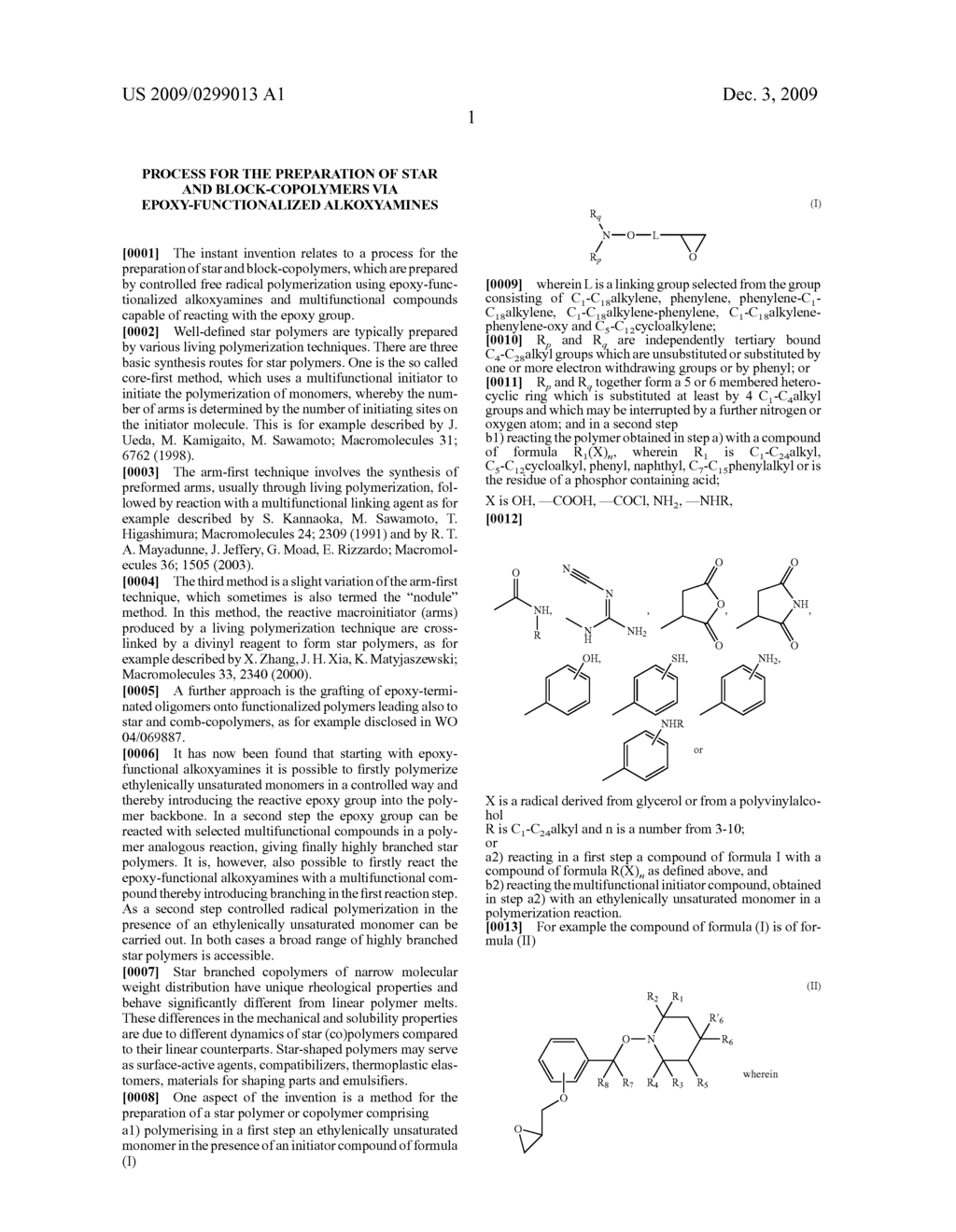 Process for the Preparation of Star and Block-Copolymers Via Epoxy-Functionalized Alkoxyamines - diagram, schematic, and image 02