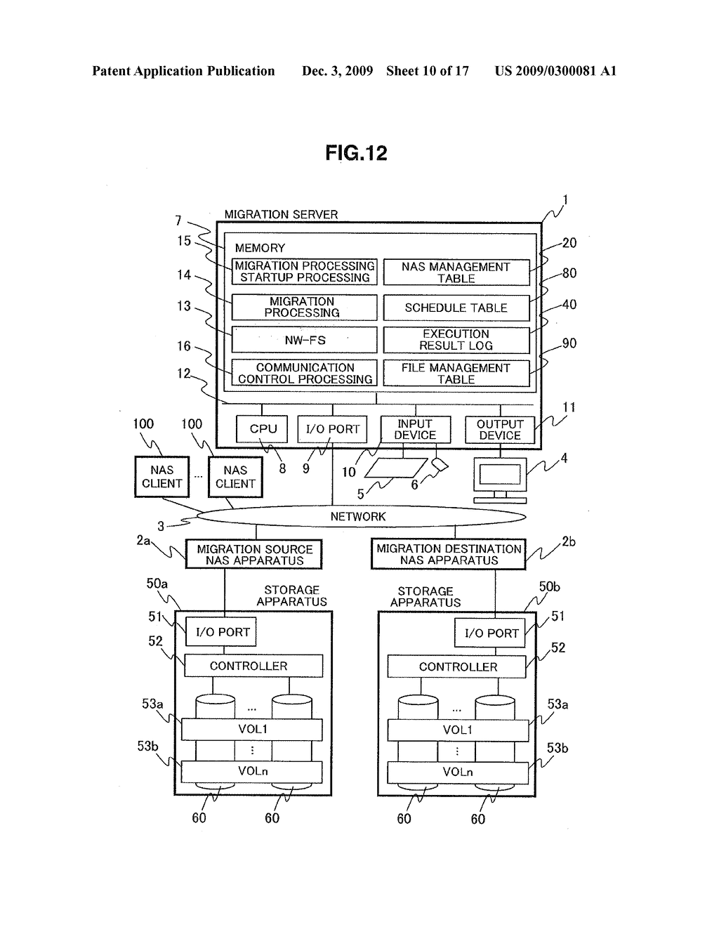 METHOD, APPARATUS, PROGRAM AND SYSTEM FOR MIGRATING NAS SYSTEM - diagram, schematic, and image 11