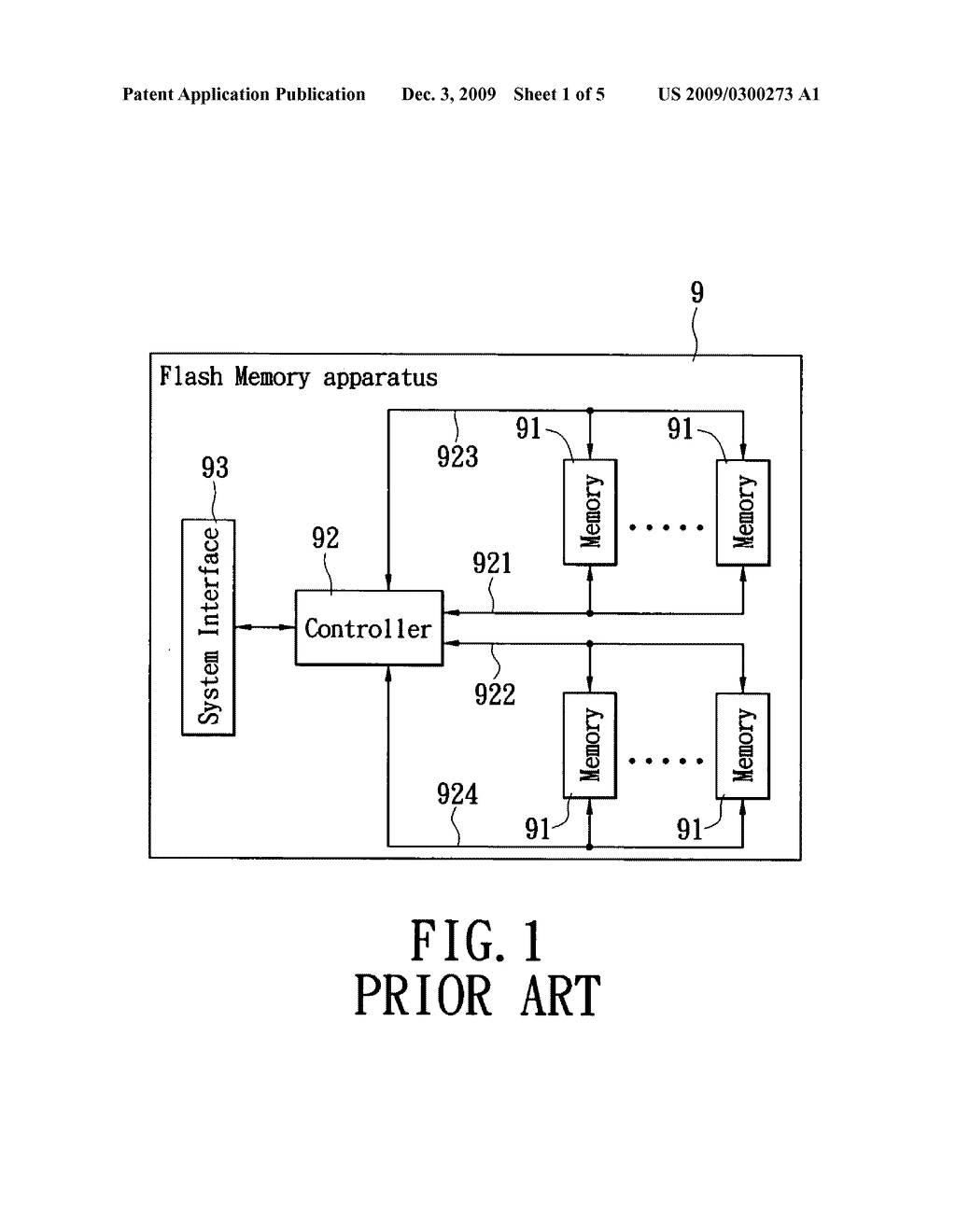Flash memory apparatus with automatic interface mode switching - diagram, schematic, and image 02
