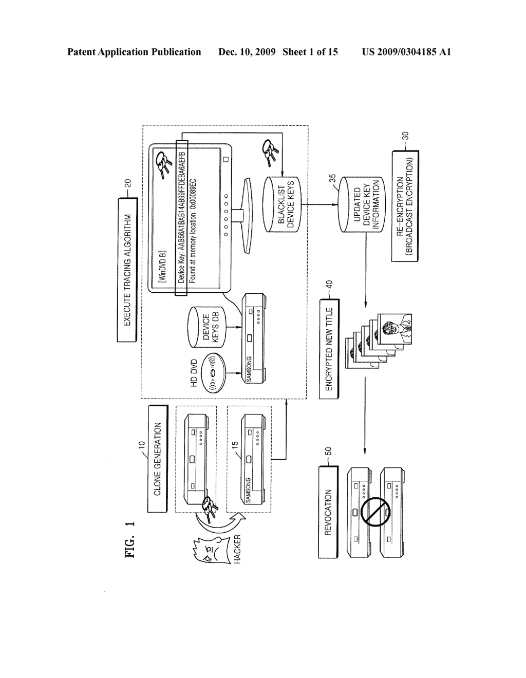 METHOD OF TRACING DEVICE KEYS FOR BROADCAST ENCRYPTION - diagram, schematic, and image 02