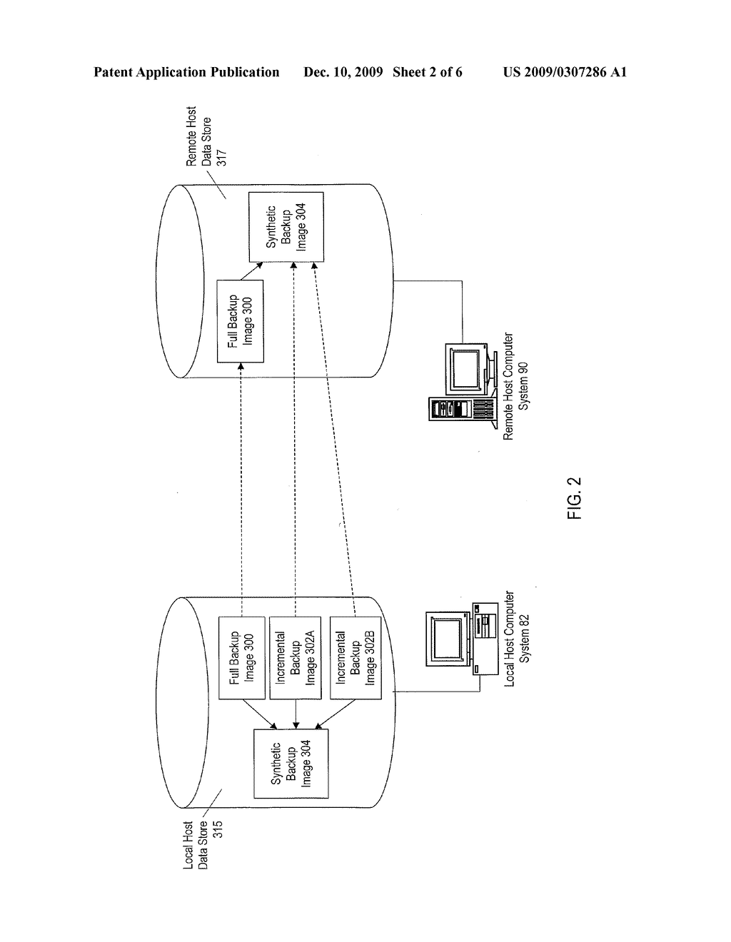 CREATING SYNTHETIC BACKUP IMAGES ON A REMOTE COMPUTER SYSTEM - diagram, schematic, and image 03