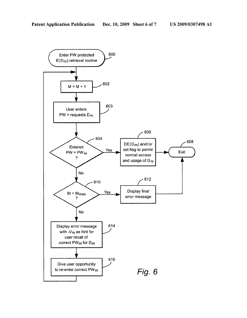 USER-DEFINED PASSWORDS HAVING ASSOCIATED UNIQUE VERSION DATA TO ASSIST USER RECALL OF THE PASSWORD - diagram, schematic, and image 07