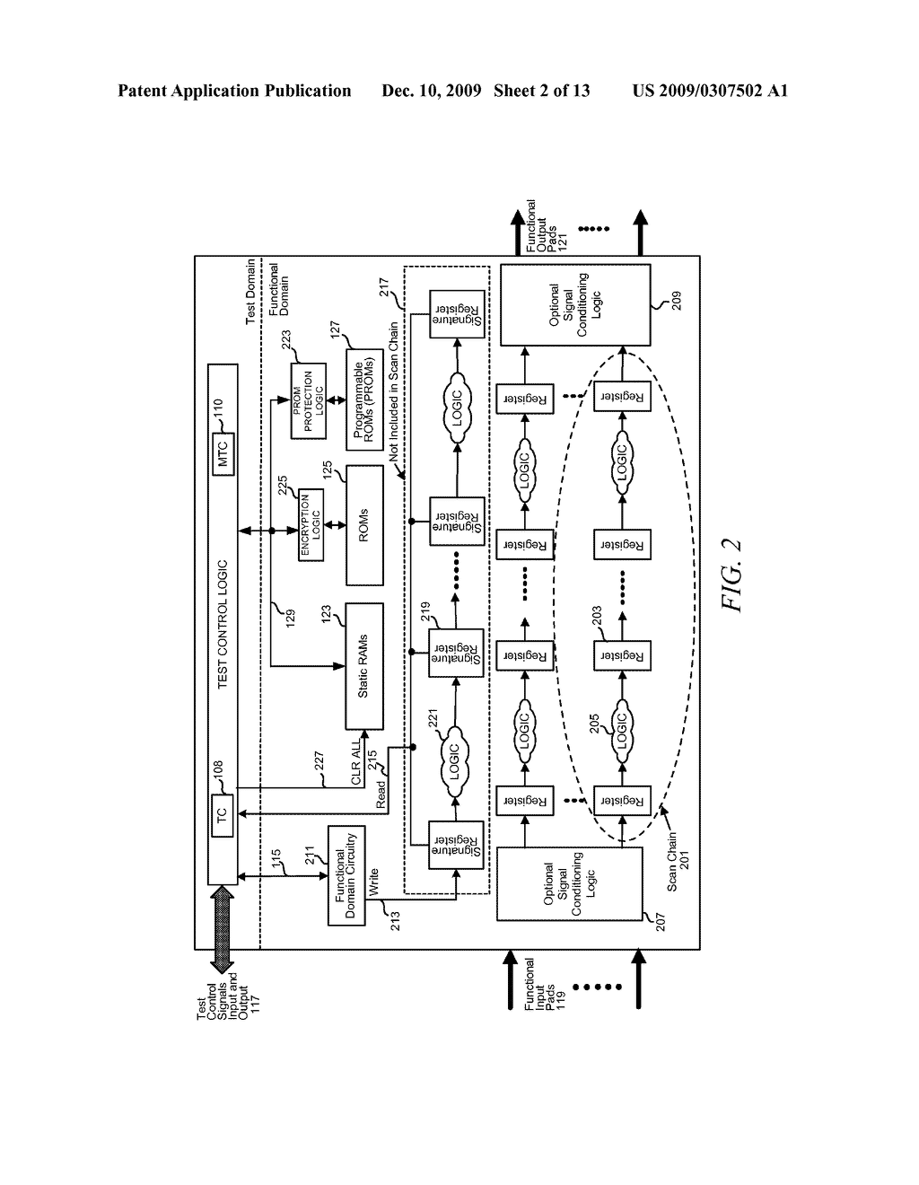 METHOD AND APPARATUS FOR SECURING DIGITAL INFORMATION ON AN INTEGRATED CIRCUIT READ ONLY MEMORY DURING TEST OPERATING MODES - diagram, schematic, and image 03