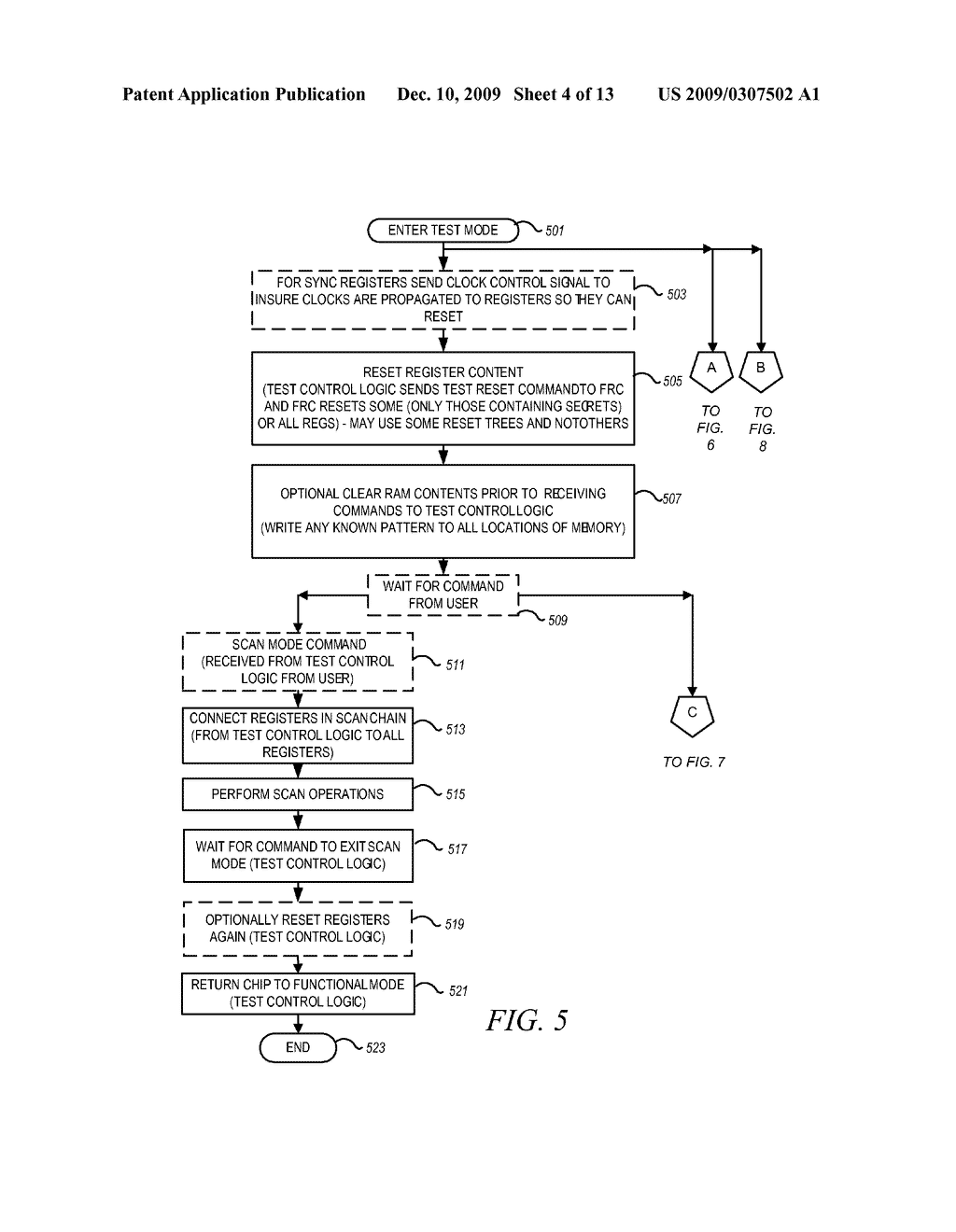 METHOD AND APPARATUS FOR SECURING DIGITAL INFORMATION ON AN INTEGRATED CIRCUIT READ ONLY MEMORY DURING TEST OPERATING MODES - diagram, schematic, and image 05