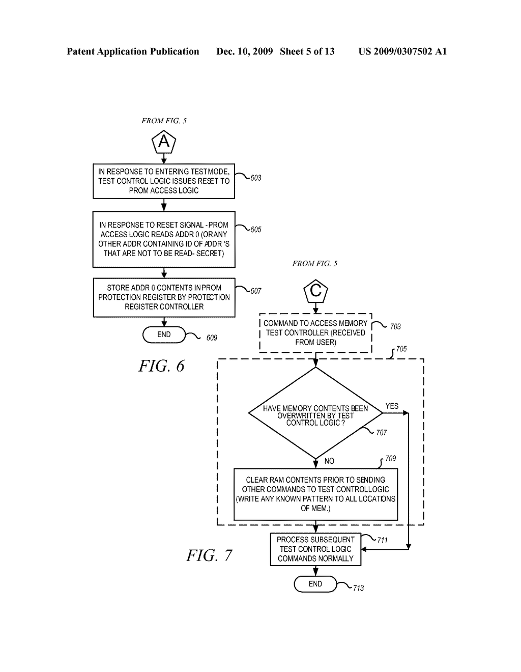 METHOD AND APPARATUS FOR SECURING DIGITAL INFORMATION ON AN INTEGRATED CIRCUIT READ ONLY MEMORY DURING TEST OPERATING MODES - diagram, schematic, and image 06