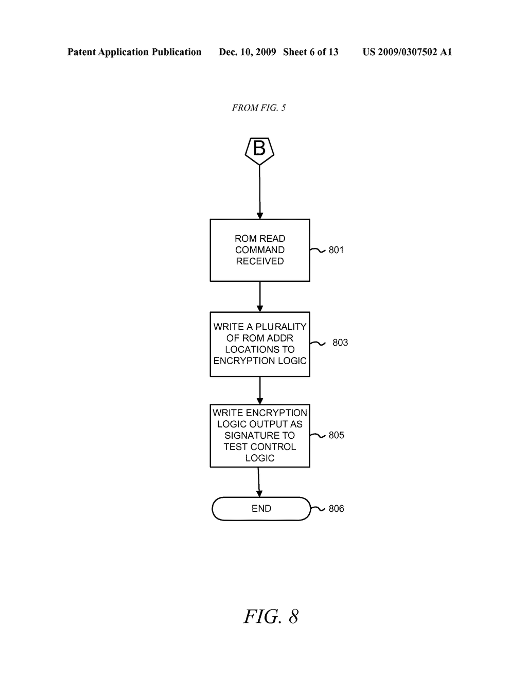 METHOD AND APPARATUS FOR SECURING DIGITAL INFORMATION ON AN INTEGRATED CIRCUIT READ ONLY MEMORY DURING TEST OPERATING MODES - diagram, schematic, and image 07