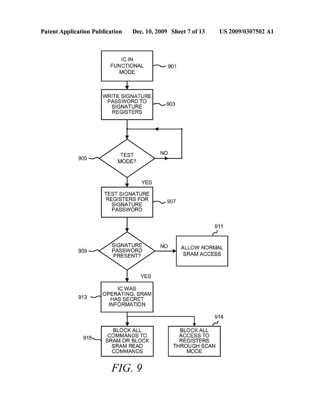 METHOD AND APPARATUS FOR SECURING DIGITAL INFORMATION ON AN INTEGRATED CIRCUIT READ ONLY MEMORY DURING TEST OPERATING MODES - diagram, schematic, and image 08