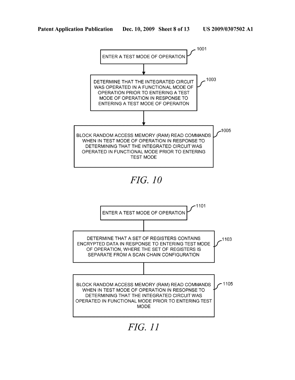 METHOD AND APPARATUS FOR SECURING DIGITAL INFORMATION ON AN INTEGRATED CIRCUIT READ ONLY MEMORY DURING TEST OPERATING MODES - diagram, schematic, and image 09