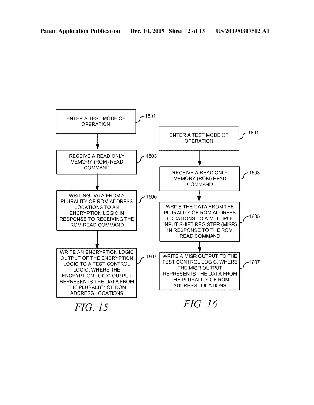 METHOD AND APPARATUS FOR SECURING DIGITAL INFORMATION ON AN INTEGRATED CIRCUIT READ ONLY MEMORY DURING TEST OPERATING MODES - diagram, schematic, and image 13