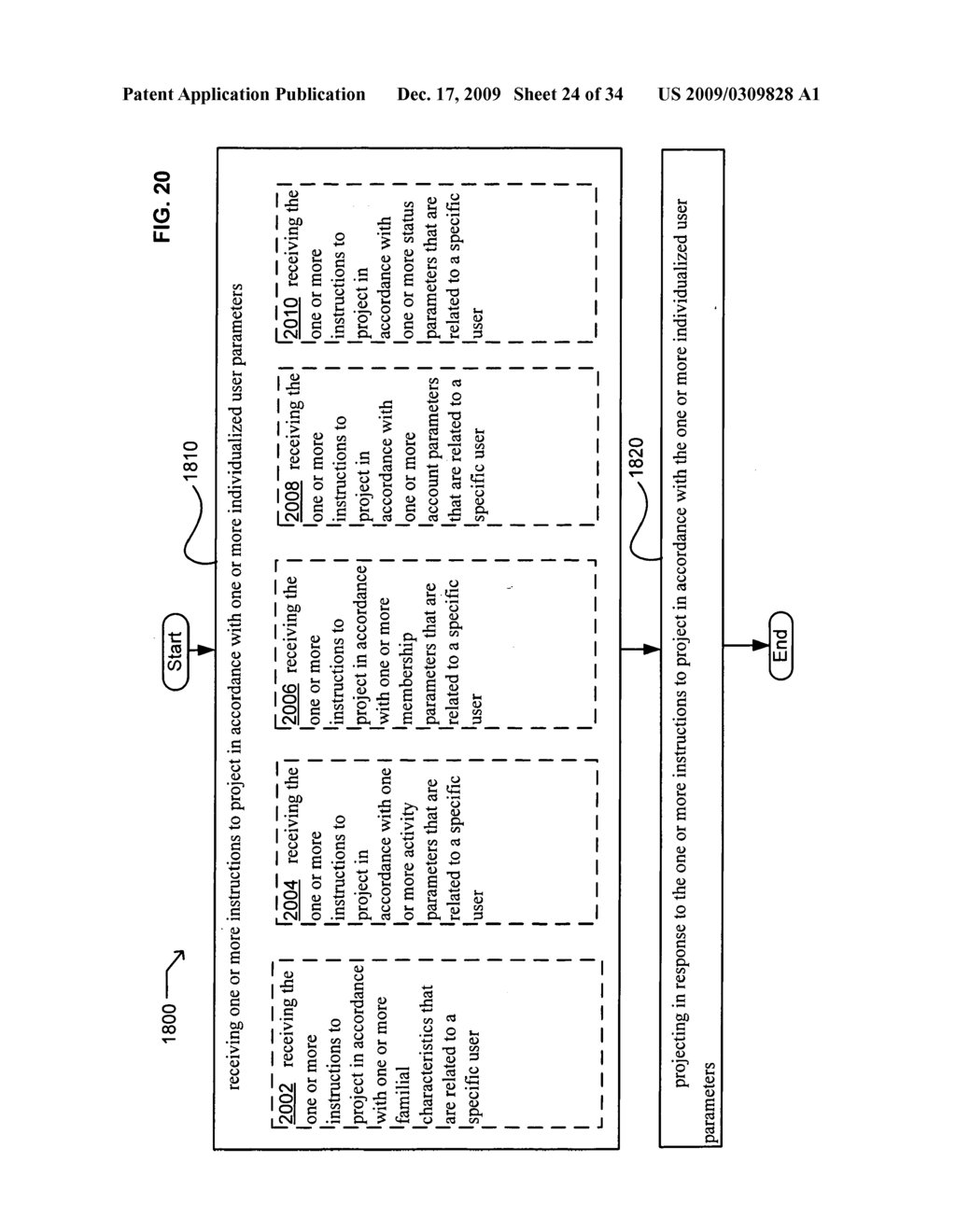 Methods and systems for transmitting instructions associated with user parameter responsive projection - diagram, schematic, and image 26