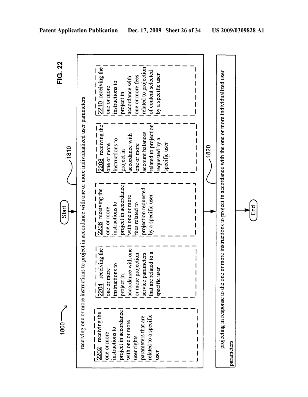 Methods and systems for transmitting instructions associated with user parameter responsive projection - diagram, schematic, and image 28
