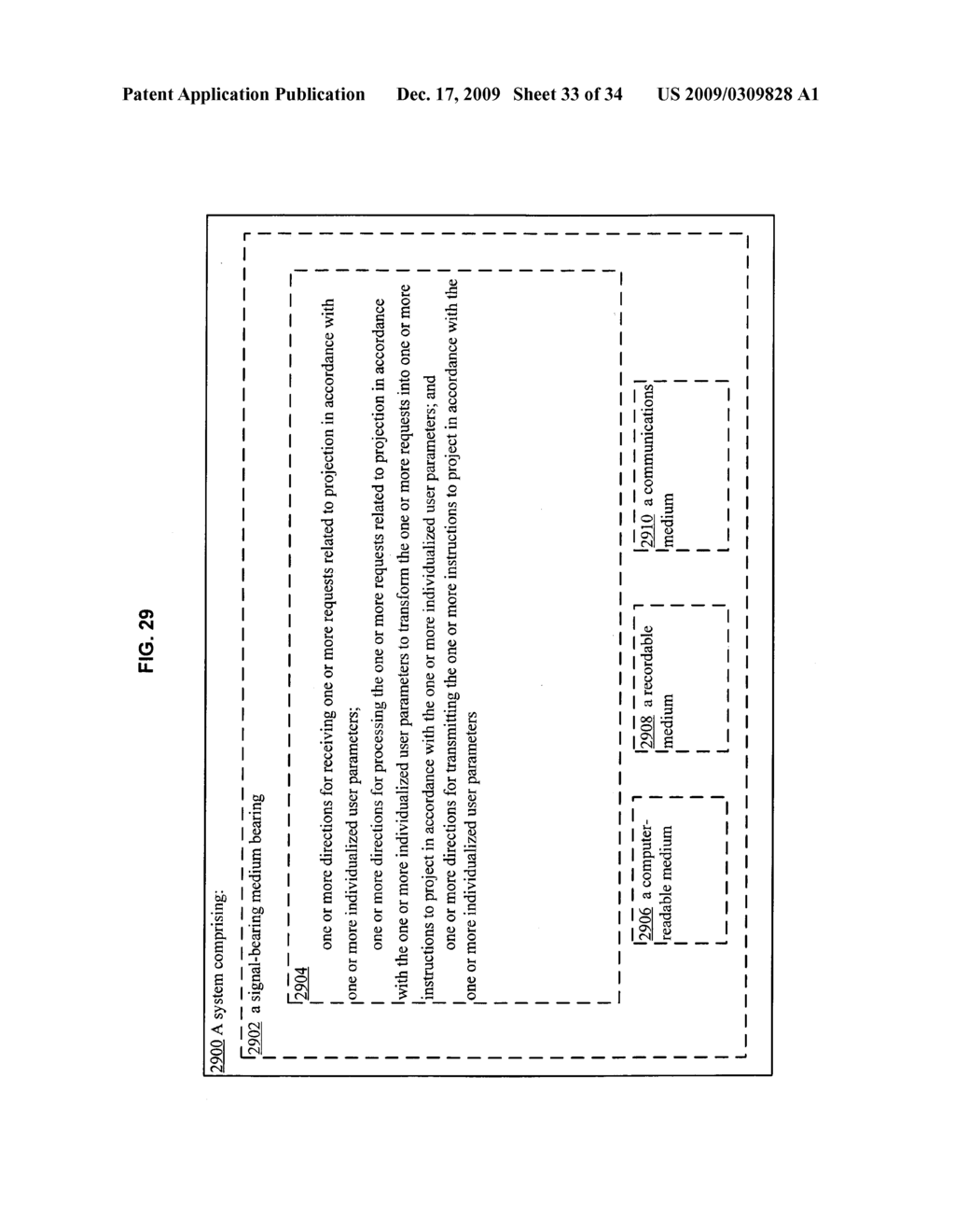 Methods and systems for transmitting instructions associated with user parameter responsive projection - diagram, schematic, and image 35