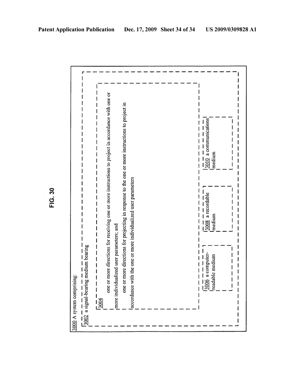 Methods and systems for transmitting instructions associated with user parameter responsive projection - diagram, schematic, and image 36
