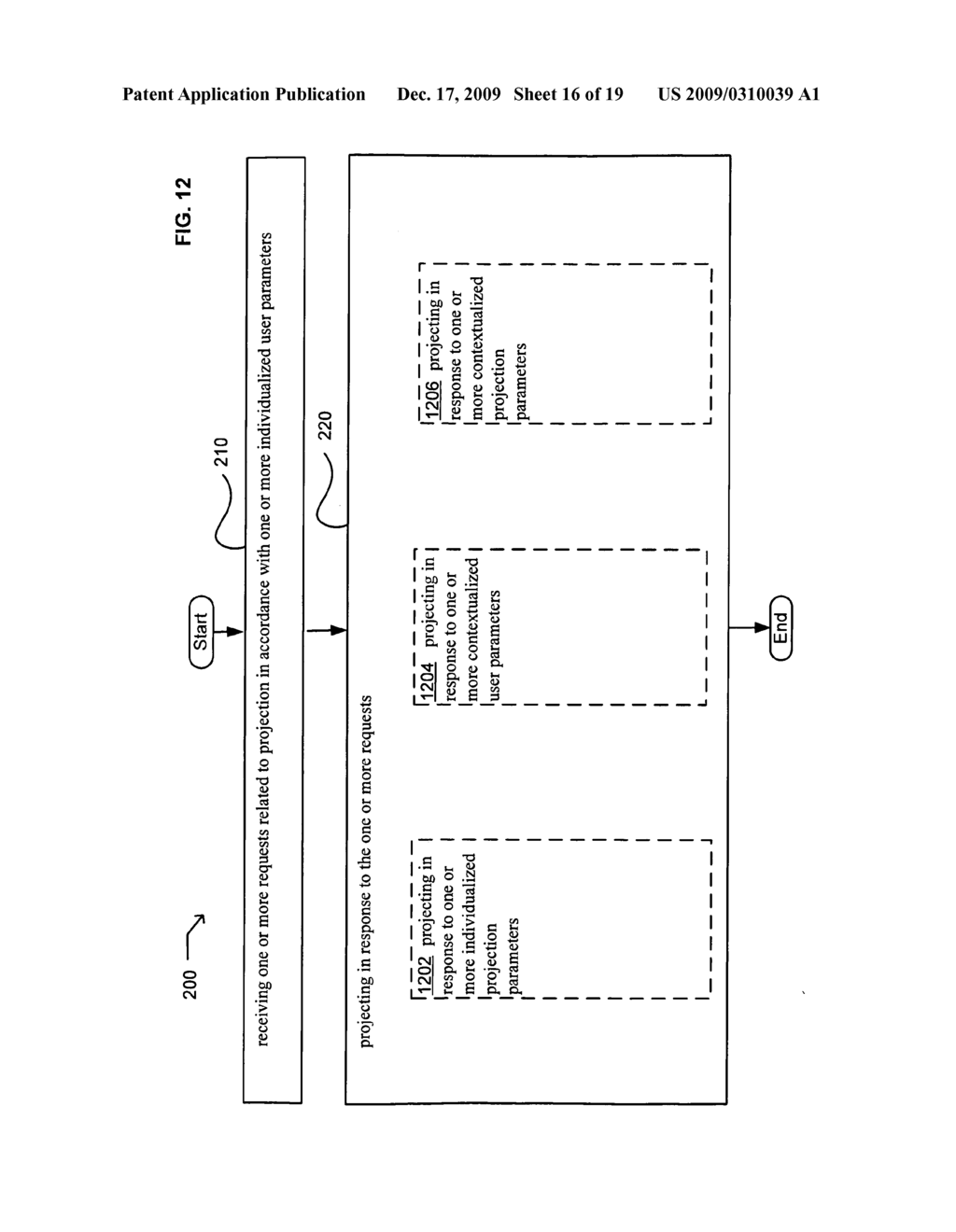 Methods and systems for user parameter responsive projection - diagram, schematic, and image 17