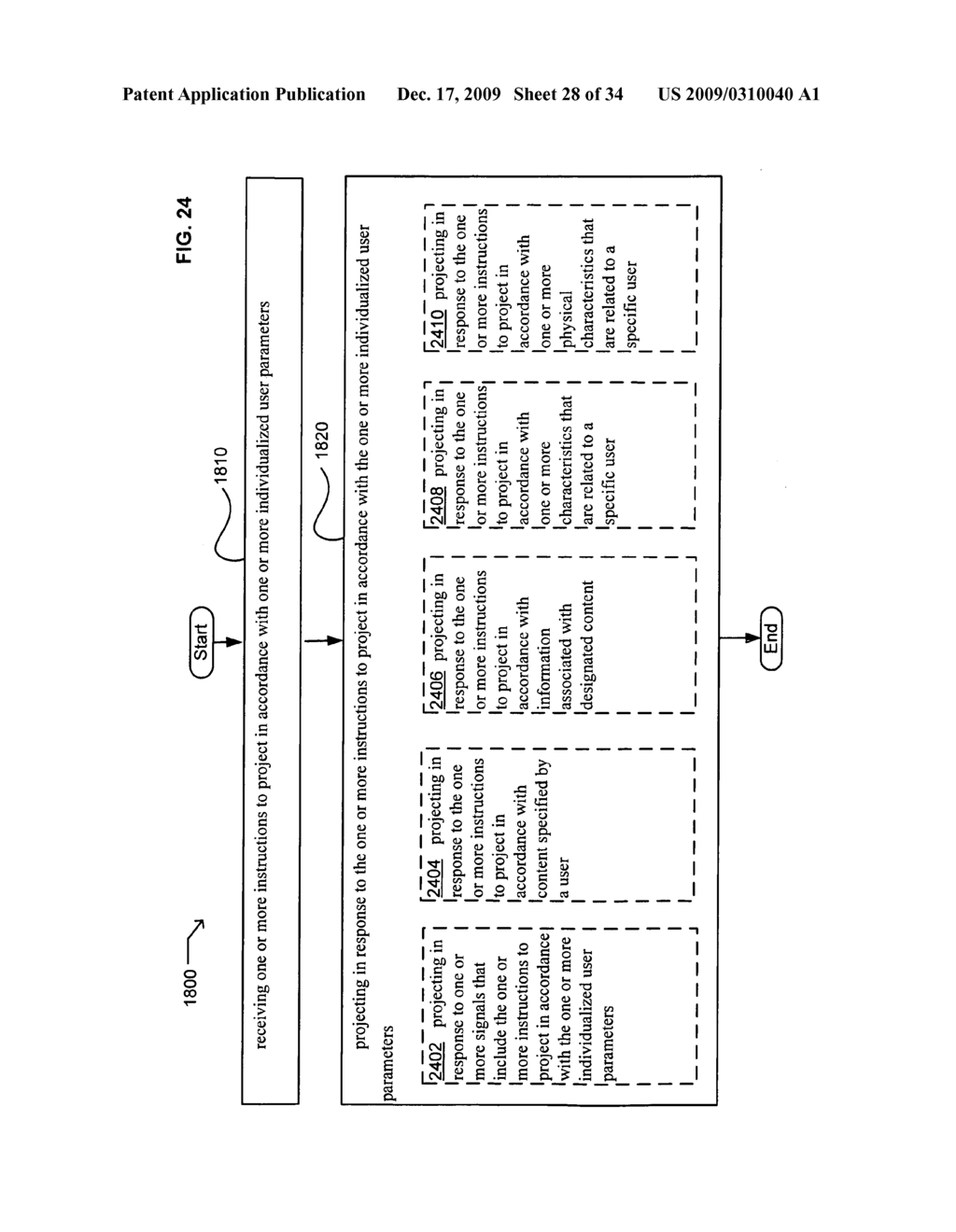 Methods and systems for receiving instructions associated with user parameter responsive projection - diagram, schematic, and image 30