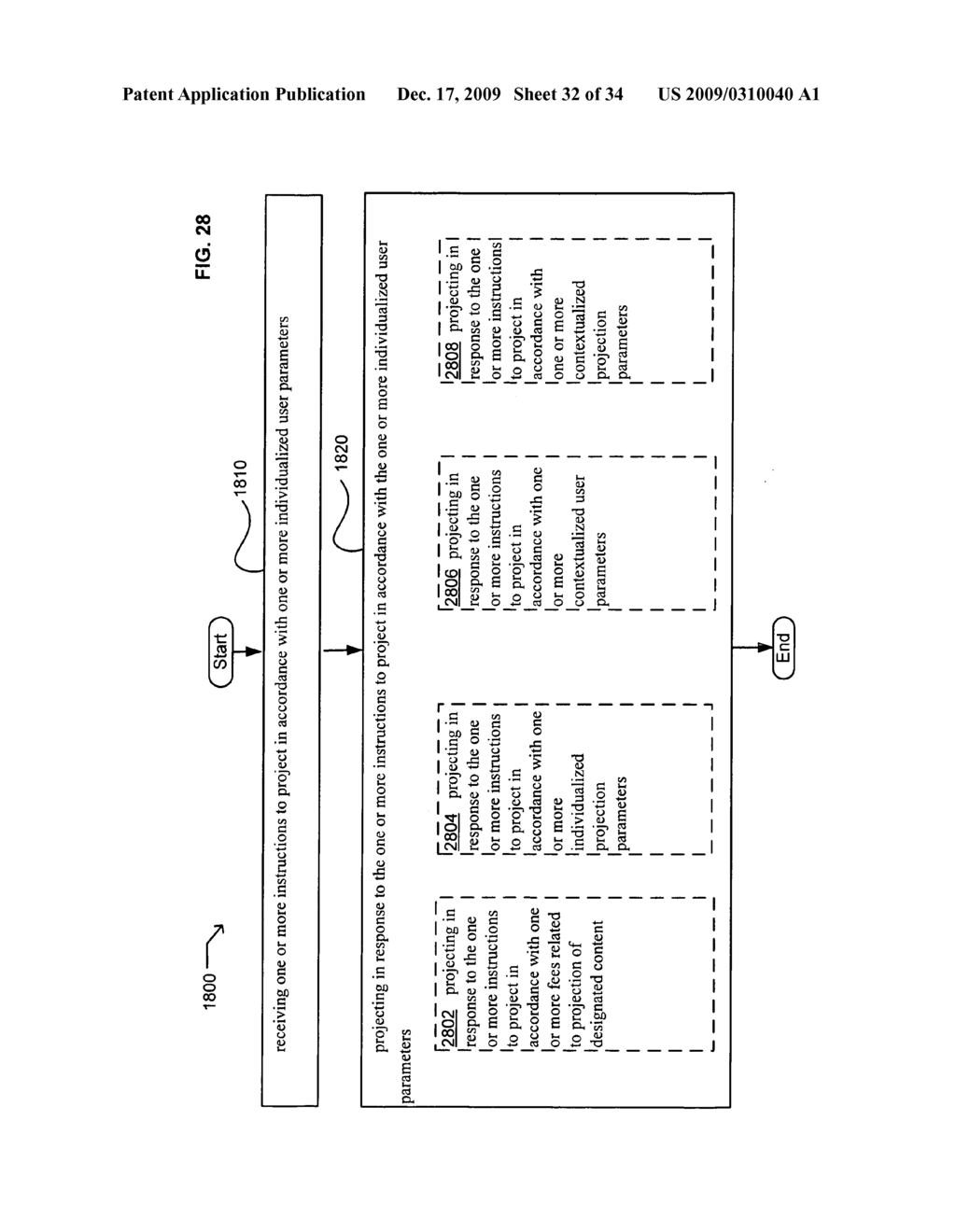 Methods and systems for receiving instructions associated with user parameter responsive projection - diagram, schematic, and image 34