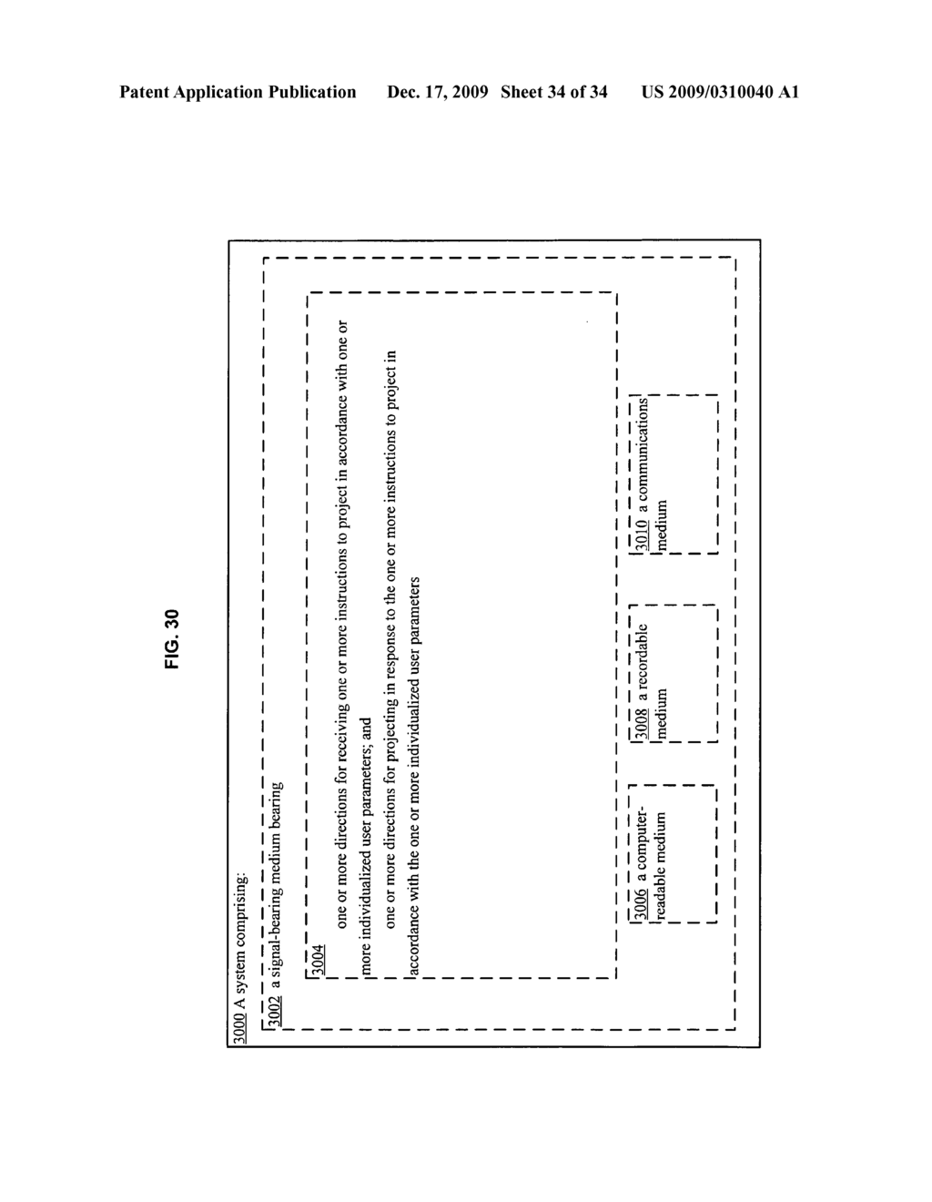 Methods and systems for receiving instructions associated with user parameter responsive projection - diagram, schematic, and image 36