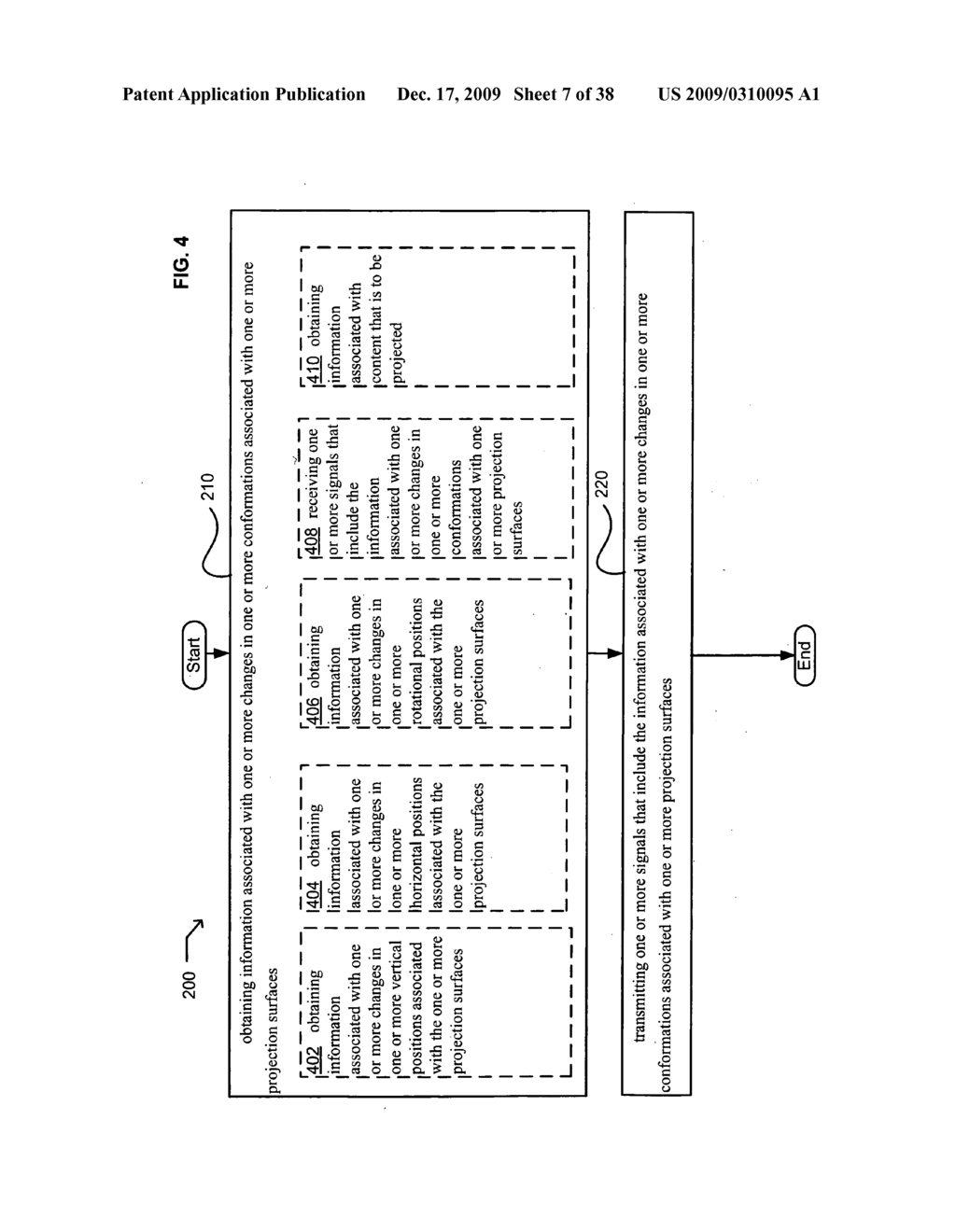Systems and methods associated with projecting in response to conformation - diagram, schematic, and image 08